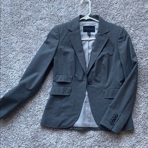 banana republic wool suit jacket (size 2 gray)